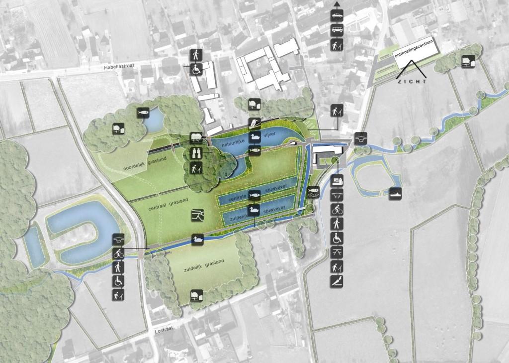 Dilbeek landschapsbeheerplan -  grondplan