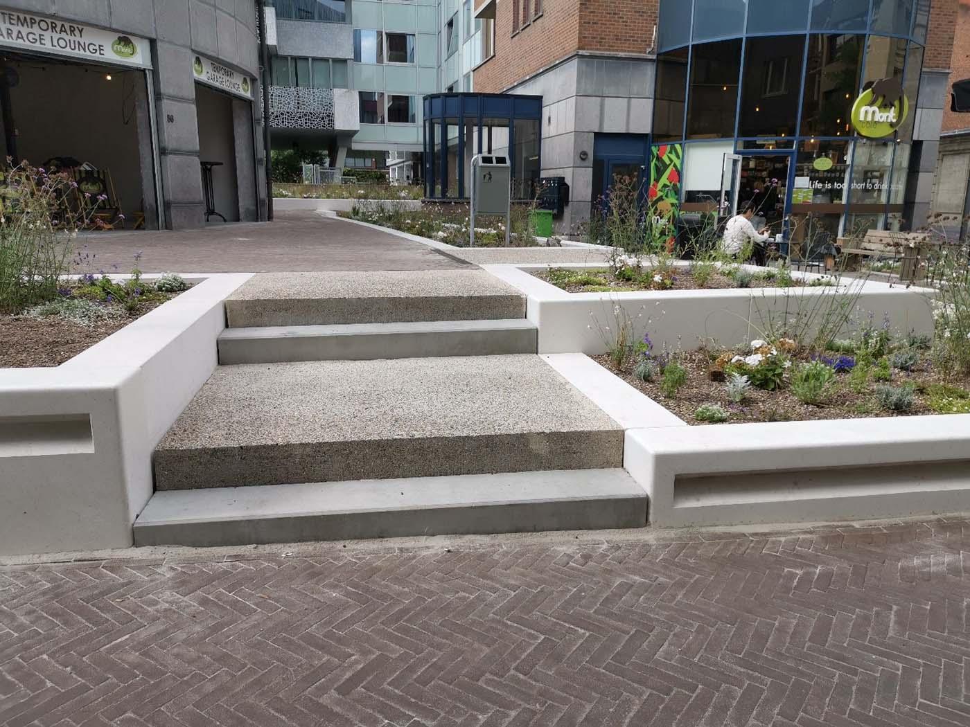 D+A_studiebureau_infra_Leuven_Alfons Smetsplein_trappen