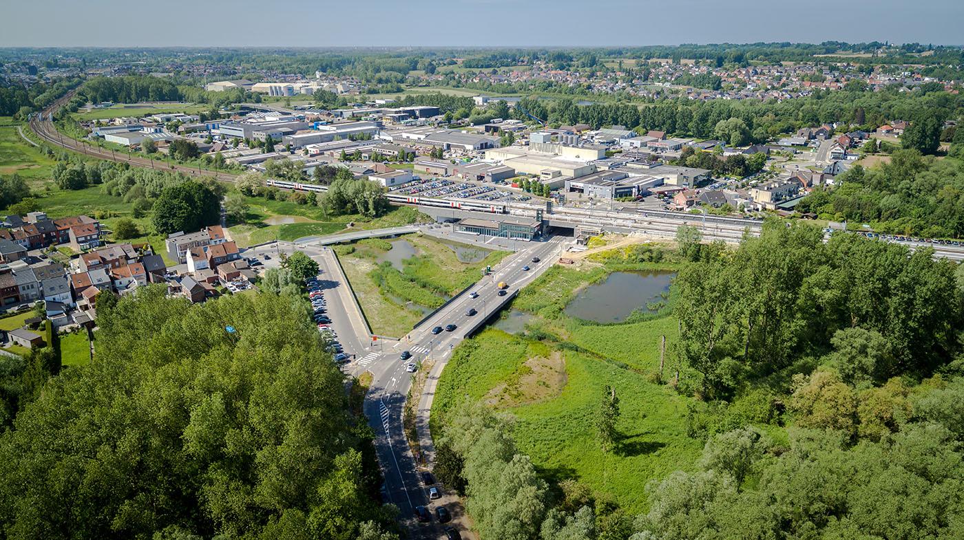 D+A_studiebureau_infra_Liedekerke_Stationsomgeving_drone