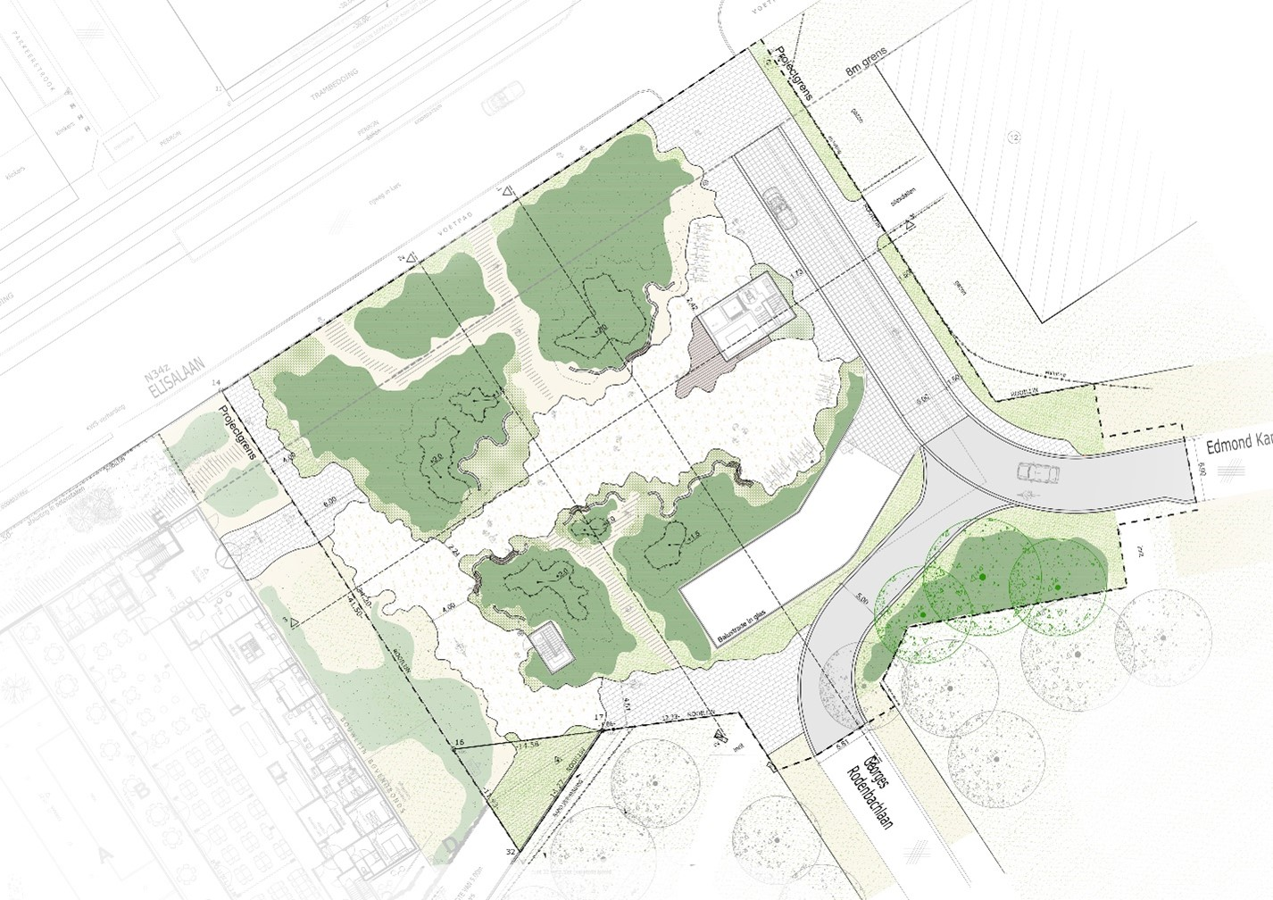 D+A_studiebureau_infra_Nieuwpoort_Nieuwlandplein_grondplan