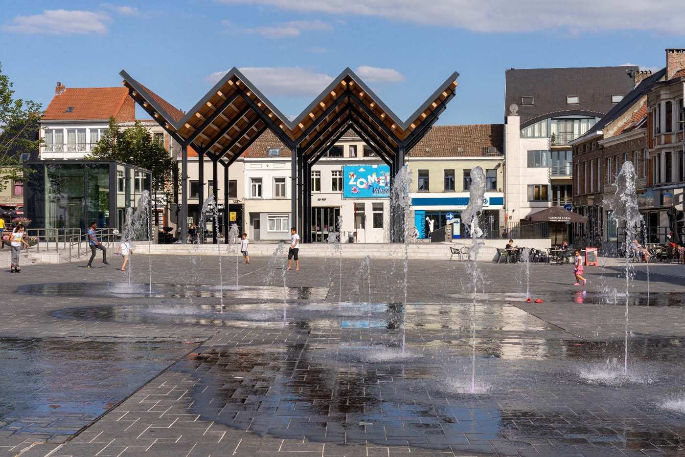 D+A_studiebureau_infra_Vilvoorde_Grote_Markt_fonteinen