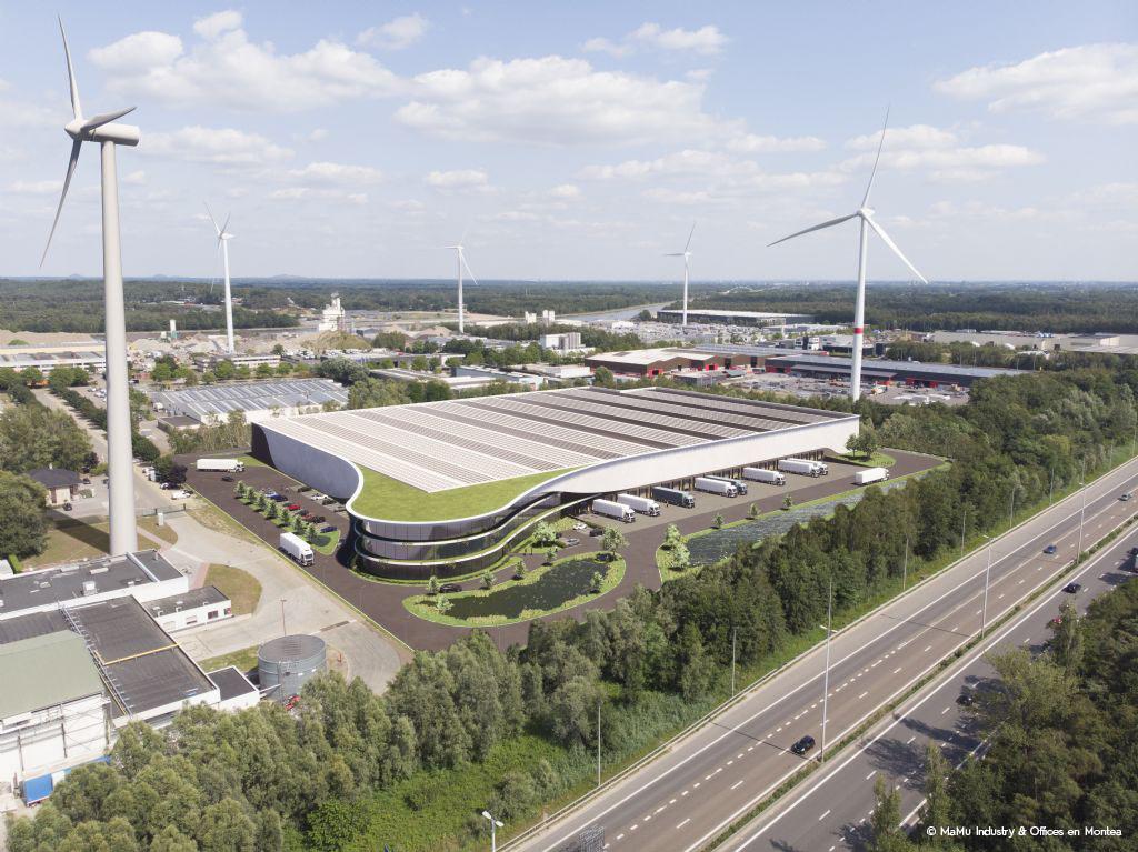 Omgevingsaanleg voor eerste klimaatneutrale distributiecentrum van België